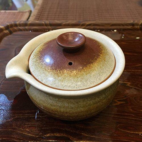 The Portable Ceramic Tea Set Office Tea Set with Infuser 260mlyellow