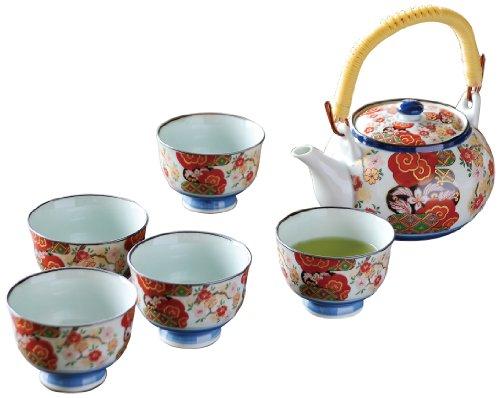 Japanese Tea Set Nishiki Peace Sakura Dobbin Tea Set