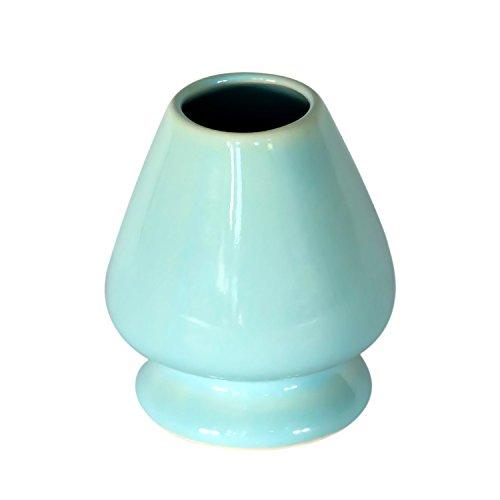 KENKO - Matcha Whisk Stand - BLUE - Ceramic Holder for Bamboo Matcha Chasen - BEST Japanese Tea Set Accessories