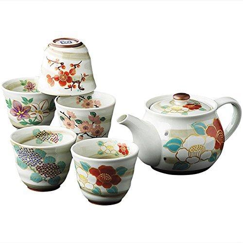 KamaKama Japanese Tea setTea pot x1pcsCup x5pcs PorcelainSizecm 75x105x95  dia79x65ka111308