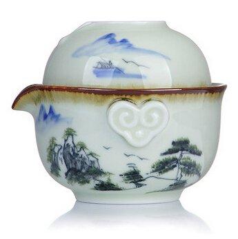 Chinese Portable Travel Tea Set Gongfu Gaiwan Ceramic Tea Set TGW10 4