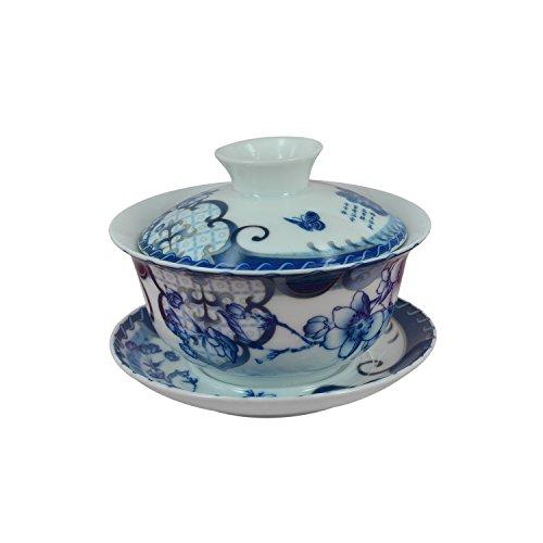 Dielianhua Chinese Porcelain Gaiwan Gai Wan Teacup Tea Cup Set 150ml