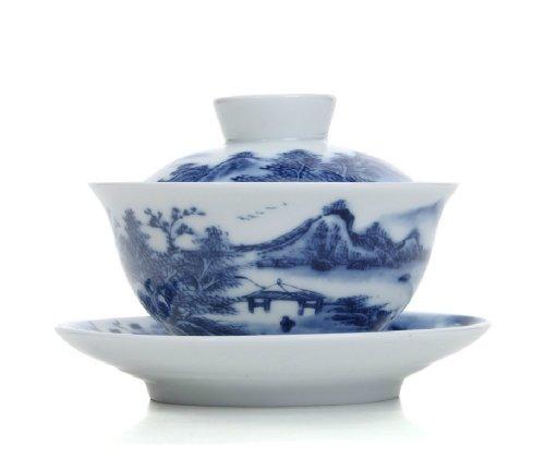 Moyishi Gaiwan Landscapes Traditional Chinease Tureen Sancai Tea Cup Tea Set 150ml