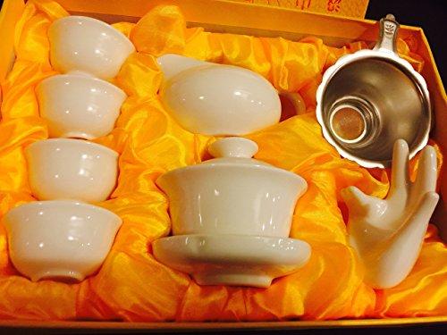 Music City Tea Gaiwan Tea Set Pure White Tea Set With Gift Box On Sale
