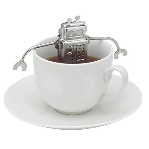 Home-organizer Tech Tea Filter Robot Shape Tea Infuser Ball Strainer for Loose Leaf Tea