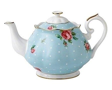 Royal Albert Polka Blue Vintage Teapot 125L