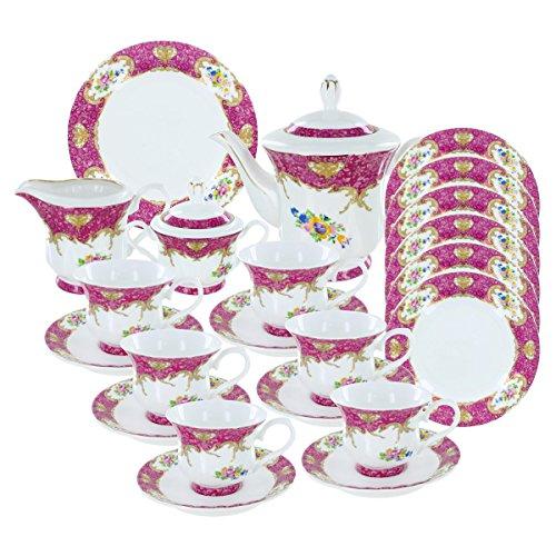 Blushing Bouquet Deluxe Porcelain Tea Set