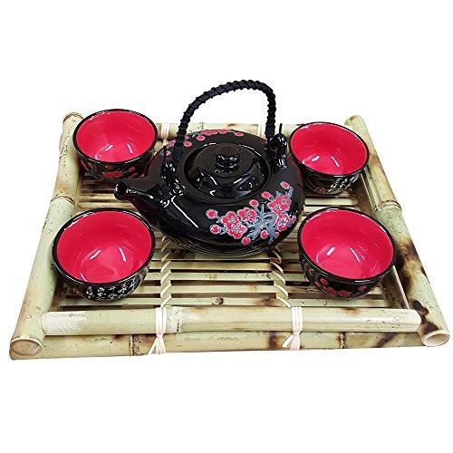 Contemporary Art Decor 5 pcs Porcelain tea set
