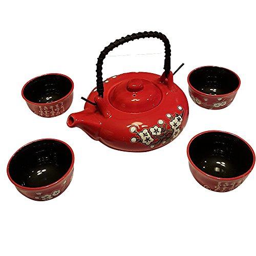 Contemporary Art Decor Porcelain tea set 5 pcs