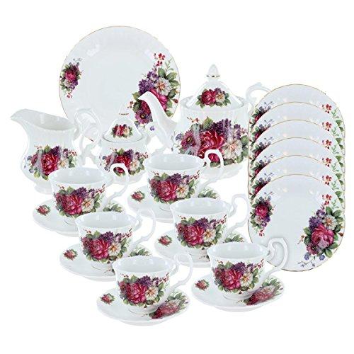 Floral Gala Deluxe Porcelain Tea Set