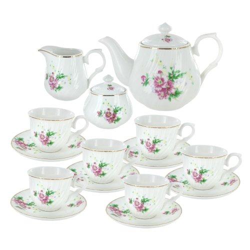 Summertime Gardens Porcelain Tea Set