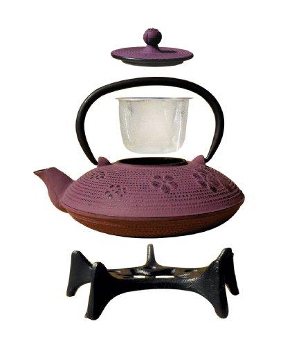 Old Dutch Greek Wine Cast Iron Kamakura Teapot with Stand 26-Ounce