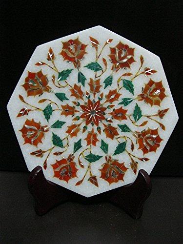Royal Kettle Cum Teapot Stand Marble Pietra Dura Semi Precious Inlay Art Elegant Useful Decorative Gift Artefacts Red Orange - Carnelian