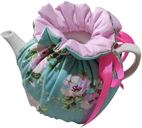 Yangshine Vintage Floral Tea Cozy 100 Cotton Dust Proof Insulated Decorative Teapot Cover for Home Kitchen Table Color 4