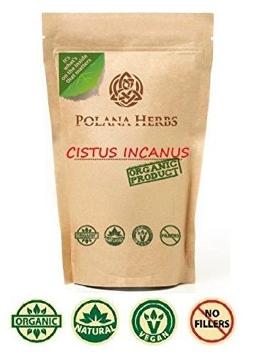 Organic Cistus Incanus Rockrose Loose Herbal Tea - Polyphenol Rich Detox Cleanse Immune System Booster Strong Antioxidant 1x 50g Pack