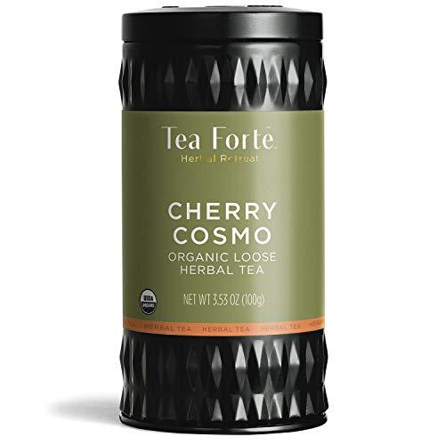 Tea Forte Herbal Retreat Organic Herbal Tea Makes 35-50 Cups 353 Ounce Loose Leaf Tea Canister Cherry Cosmo