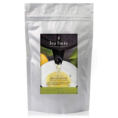 Tea Forte Organic Herbal Tea Makes 160-170 Cups 1 Pound Pouch Loose Bulk Tea African Solstice