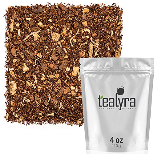 Tealyra - Rooibos Coconut Vanilla Chai - Ginger and Cinnamon with Red Bush Rooibos Herbal Loose Leaf Tea - Antioxidants Rich - Caffeine-Free - 110g 4-ounce