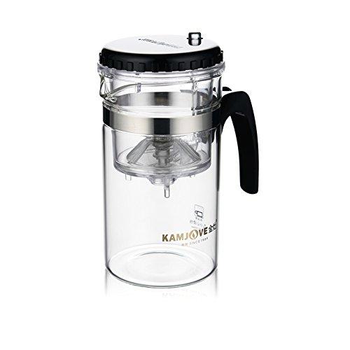 KAMJOVE Glass Gongfu Teapot Press Art Tea Cup Teapot with filter TP-120 200ml heat-resistant glass