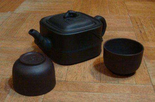 Bamboo Yixing Three Piece Tea Set