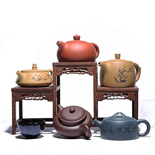 LHQ-HQ Wang Yixing Teapot Set Hand-Colored Soil Upscale Gift Sets of pots