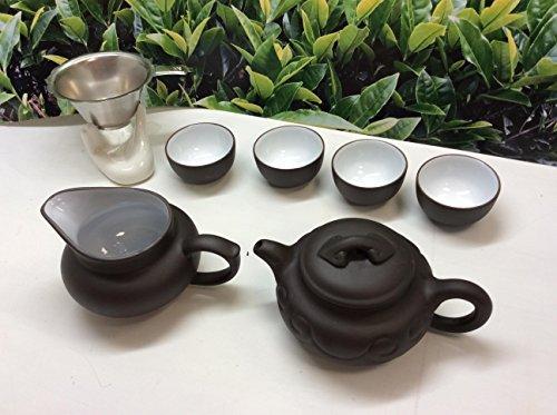 Music City Tea Yixing Tea Set RUYI Blcak 8 pcs Best Seller Tea Set with A Nice Gift Box tem HSB8