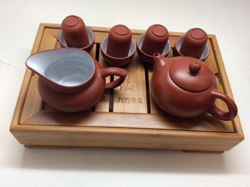 MusicCityTea Yixing Tea Set 10 pcs with Mini Tea Tray YT001
