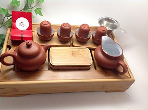 MusicCityTea Yixing Tea Set 15pcs with Medium Tea Tray XHR18 by Music City Tea