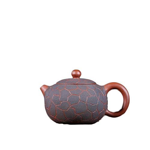 SHENLIJUAN Zisha pot Yixing original mine Kungfu tea set Ice pattern Xi Shi pot traditional handmade teapot Color  Clear cement