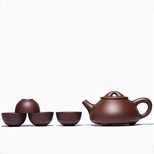 Tea Set Wang Yixing Teapot Set Purple Debris Scoop Pot Pot Four Cups of high-Grade Hand-Sets of pots Gift