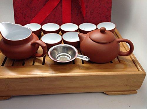 Yixing Tea Set 15pcs with Medium Tea Tray RW