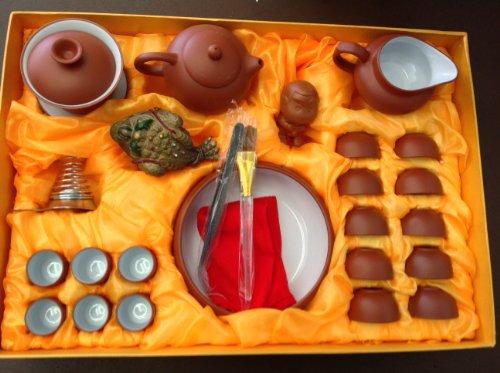 Yixing Tea Set Large Tea Set with 26pcs with a Large Tea Tray Set