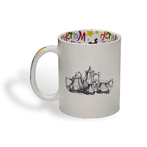 Ceramic Christmas Coffee Mug Coffee Tea Set Vintage Look Home Kitchen Funny Tea Cup