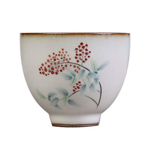 Ru Kiln Hand-painted Mountain Fruit Tea Cup Handmade Kung Fu Tea Set Vintage Tea Cup Self-use Master Cup