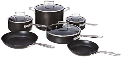 Kitchenaid Kch2s10km Professional Hard Anodized Nonstick 10-piece Cookware Set - Black