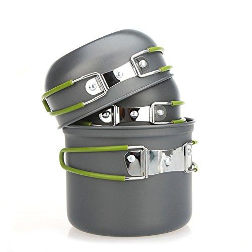 Onetigris 4pcs Military Mess Kit Cook Set For 2-3 People