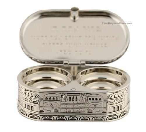 1 X Jewish Shabbat Candle Holders - Jerusalem Candlesticks - Judaica Gift