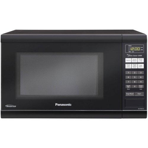 Panasonic 1200w 1.2 Cu. Ft Countertop Microwave Oven With Inverter Technology Nn-sn651b Black