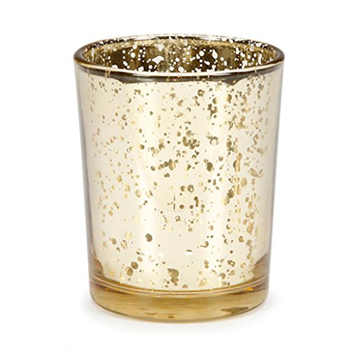Wedding Decoration Votive Candle Holder in Gold Pack of 12