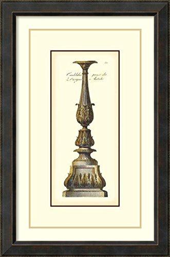 Framed Art Print Antique Candlestick IV by Vision Studio
