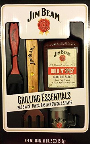 Jim Beam Grilling Essentials Tongs Bsting Brish Shaker Grilling Gift Set