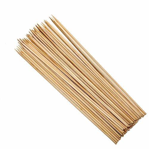 Wideskall 12 inch Bamboo Skewers Wooden BBQ Sticks 1000 Ct