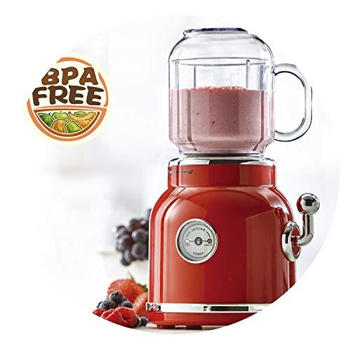 ANIMORE Portable Electric Blender Fruit Baby Food Juicer Milkshake Mixer Meat Grinder Multifunction Retro Juice Maker MachinePink