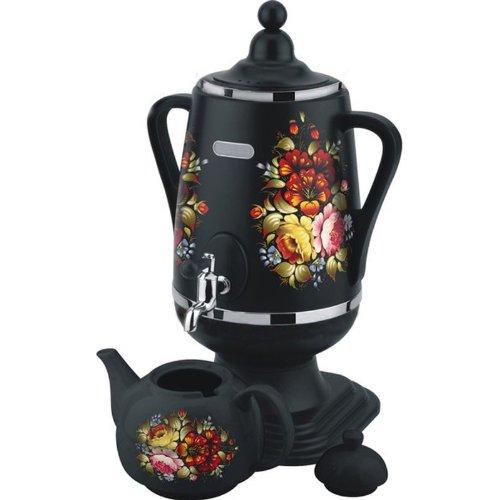 """Electric Samovar Tea Maker """"dobrynya"""" (khokhloma Patterns)"""