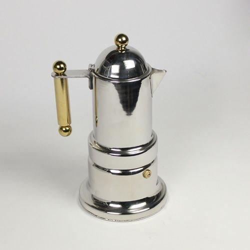 Stovetostainless 4 Cups Italian Express Stovetop Espresso Coffee Latte Maker Moka Potp Expresso Coffee Latte Maker Percolator Moka POT Gasket-12 Cup 600 Ml