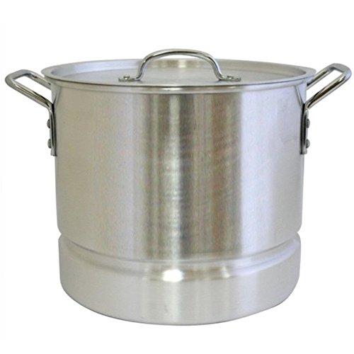 Aramco Alpine Gourmet Aluminum Stock Pot with Lid Steamer 16 quart Silver