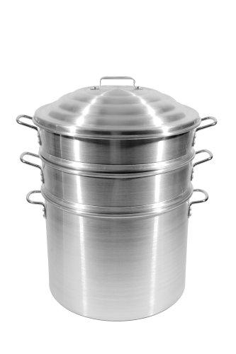 Town Food Service 16 Inch Aluminum Steamer Set