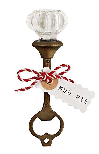 Mud Pie Fluted Door Knob Bottle Opener Brown