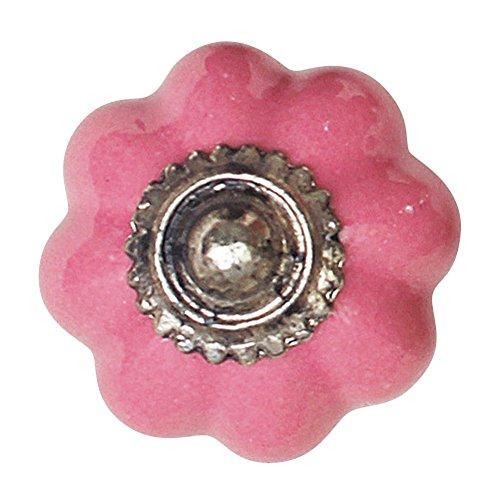 Time Concept Handmade Antique Look Door Knob Magnet - Pink