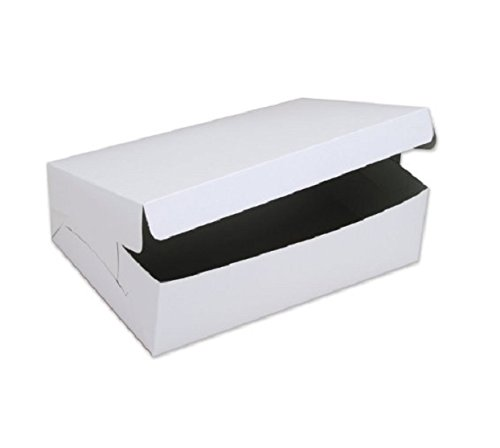 SafePro 19144C 19x14x4-Inch Cardboard Cake Boxes Take Out Disposable Paper Cake Pie Containers Wholesale White Bakery Box 50